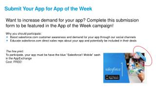 Submit Your App for App of the Week