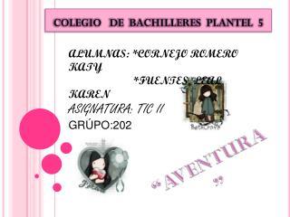 COLEGIO   DE  BACHILLERES  PLANTEL  5