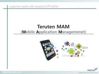 Teruten  MAM ( M obile  A pplication  M anagemenet )