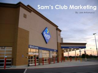 Sam�s Club Marketing
