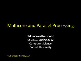 Multicore and Parallel Processing