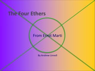 The Four Ethers