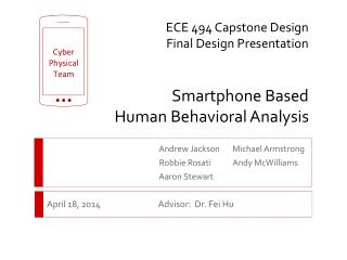 ECE 494 Capstone Design Final Design  Presentation Smartphone Based  Human Behavioral Analysis