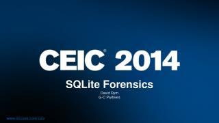 SQLite Forensics