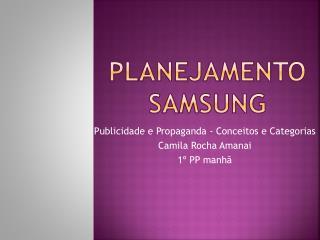 Planejamento Samsung