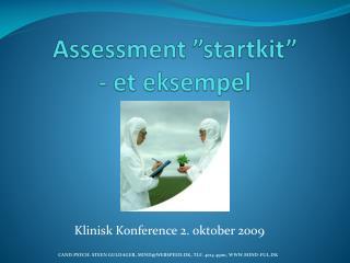 Assessment  startkit  - et eksempel