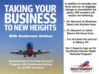 With Southwest Airlines