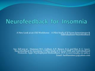 Neurofeedback  for  Insomnia
