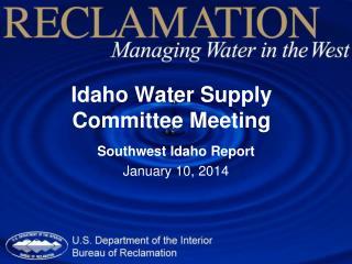 Idaho Water Supply Committee Meeting