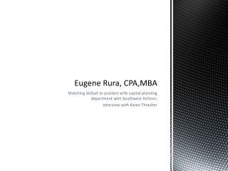 Eugene Rura, CPA,MBA