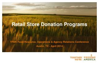 Retail Store  Donation Programs