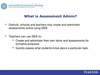 What is Assessment Admin?