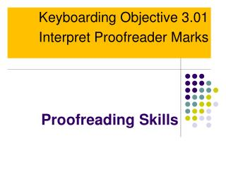 Proofreading Skills