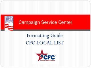 Campaign Service Center