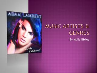 Music Artists & Genres