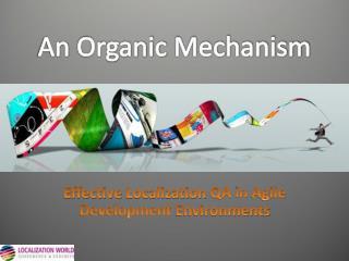 An Organic Mechanism