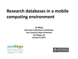 Research  databases in a mobile computing environment