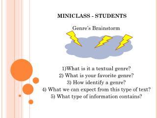 MINICLASS - STUDENTS