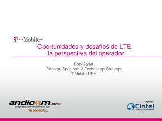 Oportunidades y desafíos de LTE:    la perspectiva del operador