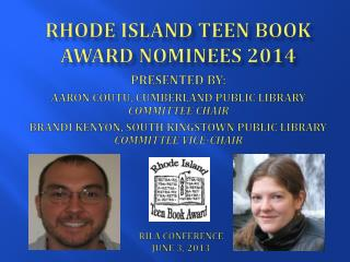 Rhode Island Teen Book Award Nominees  2014