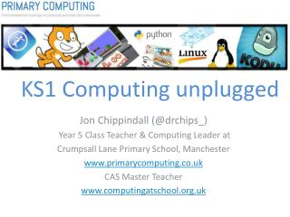 KS1  Computing unplugged