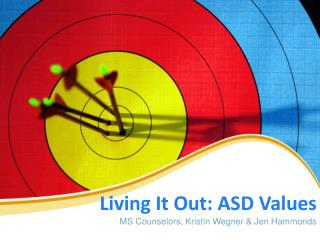 Living  It  Out: ASD Values