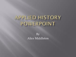 Applied History PowerPoint