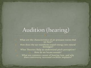 Audition (hearing)