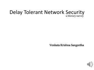 Delay Tolerant Network Security