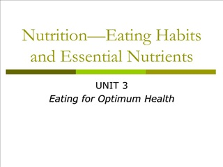 Nutrition Eating Habits and Essential Nutrients