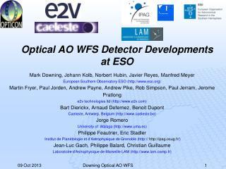 Optical AO WFS Detector Developments at ESO