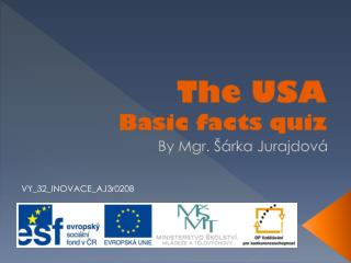 The USA Basic facts quiz