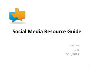 Social Media Resource Guide