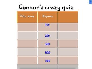 Connor's crazy quiz