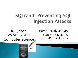 SQLrand : Preventing SQL Injection Attacks