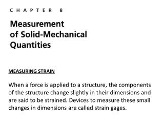 MEASURING STRAIN