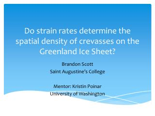 Do strain rates determine the spatial density of crevasses on the Greenland  Ice Sheet ?