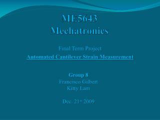 ME5643 Mechatronics