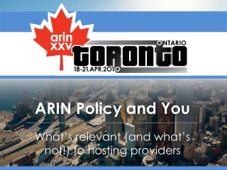ARIN Policy and You