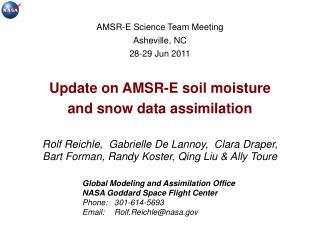 Global Modeling and Assimilation Office NASA Goddard Space Flight Center Phone: 301-614-5693