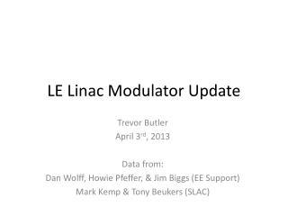 LE Linac Modulator Update