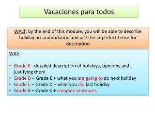 Vacaciones para todos