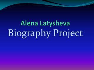 Alena Latysheva
