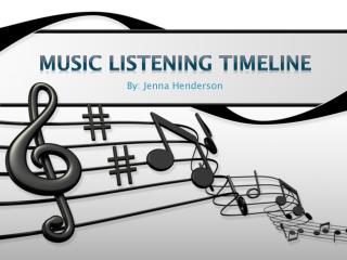 Music listening timeline