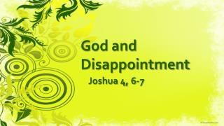 God  and  Disappointment