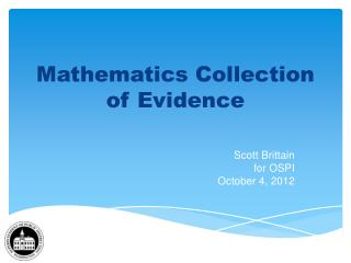 Mathematics Collection of Evidence