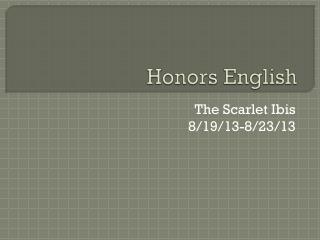Honors English
