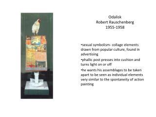 Odalisk Robert Rauschenberg 1955-1958