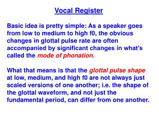Vocal Register