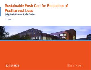 Sustainable Push Cart for Reduction of Postharvest Loss
